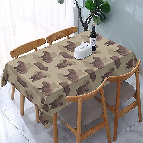 XIANGYANG Cute Guinea Pig Cartoon Rettangolo Tovaglia 54 X 72 Impermeabile Lavabile Riutilizzabile Tovaglia Tovaglia per Sala da Pranzo Cucina Picnic Home Decor