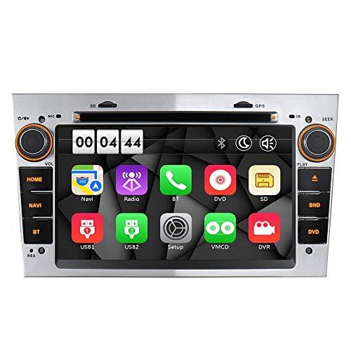 "Silber 7\"" Autoradio DVD GPS Navigation USB SD Bluetooth Autoradio CD Moniceiver Für OPEL Zafira B Astra H Corsa C D Meriva Vivaro Signum Unterstützt Dual Zone Subwoofer Mirrorlink VMCD RDS"