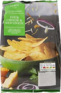 Marks & Spencer M & S Four Cheese & Red Onion Crisps