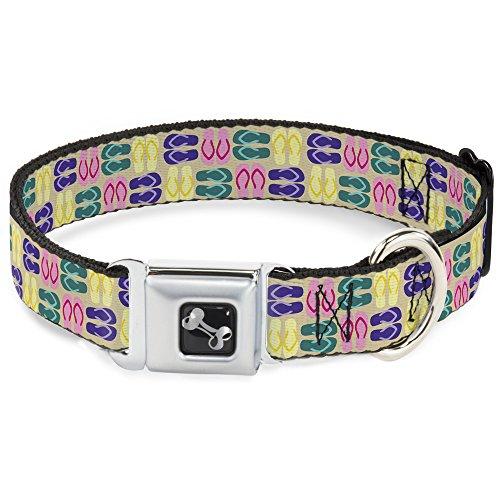 Buckle Down dc-w30699-wl Sicherheitsgurt Halsband, breit groß, Flip flops4Sand/Multi Color