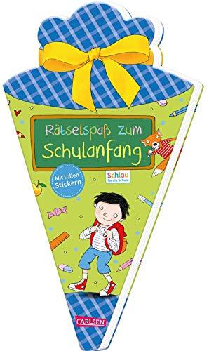 Schlau für die Schule: Rätselspaß zum Schulanfang mit Stickern (Schultüte für Jungen): Malen und Rätseln für den Schulstart
