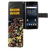 Handy-Hülle Kompatibel mit Nokia 3.1 2018 Bookstyle Bundeswehr - Wallet Case Kunst-Leder Klapphülle mit Magnet-Verschluss und Kartenfach