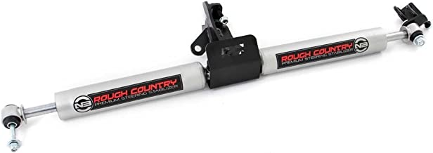 """Rough Country N3 Dual Steering Stabilizer (fits) 1999-2004 Jeep Grand Cherokee WJ 