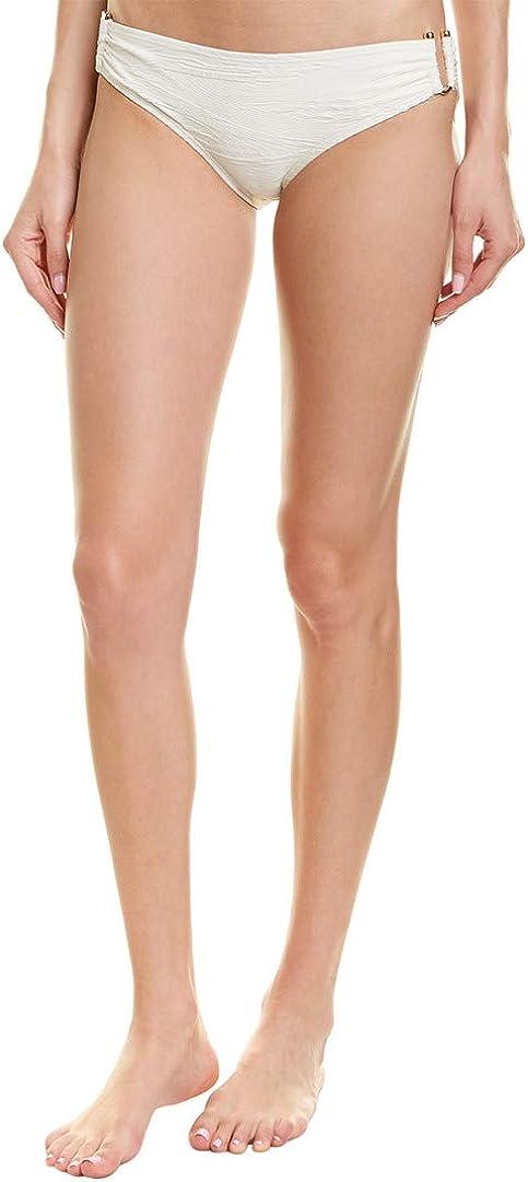 Vince Camuto Women's Standard Textured Bikini Bottom Swimsuit with Side Hardware Detail