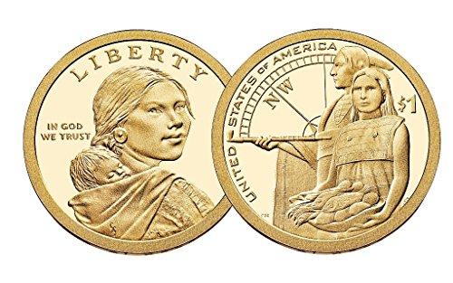 2014 P, D Native American (Sacagawea/Golden) Dollar 2 Coin Set Uncirculated