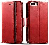 Rssviss Coque Pour iPhone 8 Plus, Housse pour iPhone 6 Plus/6s Plus en Cuir PU Pochette Universel, 4...