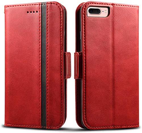 Rssviss iPhone 7/8 Plus Hülle, iPhone 6/6s Plus Handyhülle [4 Kartenfächer ] 7/8 Plus Schutzhülle [Handy Ständer] Klapphülle mit [Magnetverschluss ] Lederhülle für iPhone 6/6s/7/8 Plus 5.5