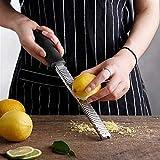 Gratters de queso, El chocolate fruta cítrica del limón Zester herramienta de la cocina Gadget Accesorios multiusos queso 12Inch rectangular de acero inoxidable rallador Herramientas