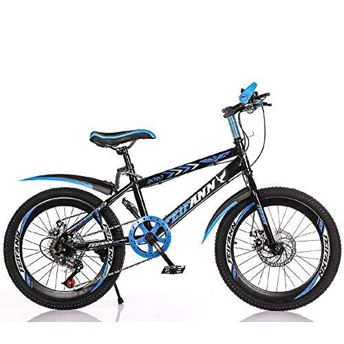 KaiKai Variable Speed Mountain Bike, 20/22 Zoll Carbon Steel Fahrrad, Studenten- und Kinderroller, Outdoor Radfahren, Variable Speed Berg Fahrrad, MTB, 2,22inches (Color : 1, Size : 20inches)