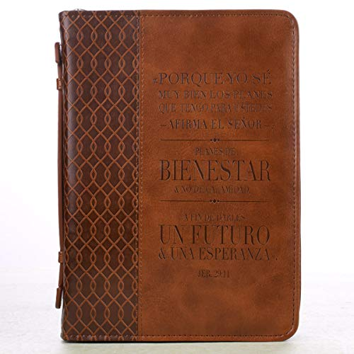 Jeremiah 29:11 Two-tone Bible / Book Cover - Forro para Biblia (Large) (Spanish Edition) (English and Spanish Edition)