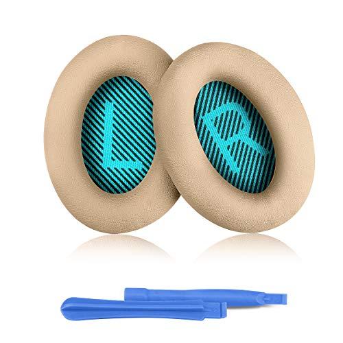 ELZO Cuffie di Ricambio per Cuffie Bose, Cuffie Professionali per Cuffie Bose QuietComfort Bose QC2/QC15/QC25/QC35/QC35II/AE2/AE2i/AE2w/SoundTrure/SoundLink Completo di 2 Stick di Installazione