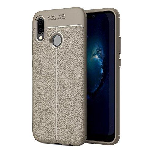 Capa de telefone para Huawei P20 Lite 5,8 polegadas TPU capa protetora durável de material flexível macio fino cinza