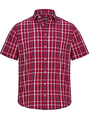 Jan Vanderstorm Herren Kurzarm Kurzarmhemd Feeliks (freizeithemd, Herrenhemd) rot 2XL (XXL) - 45/46