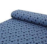 Nadeltraum Baumwolle - Sweat Stoff French Terry Sterne blau