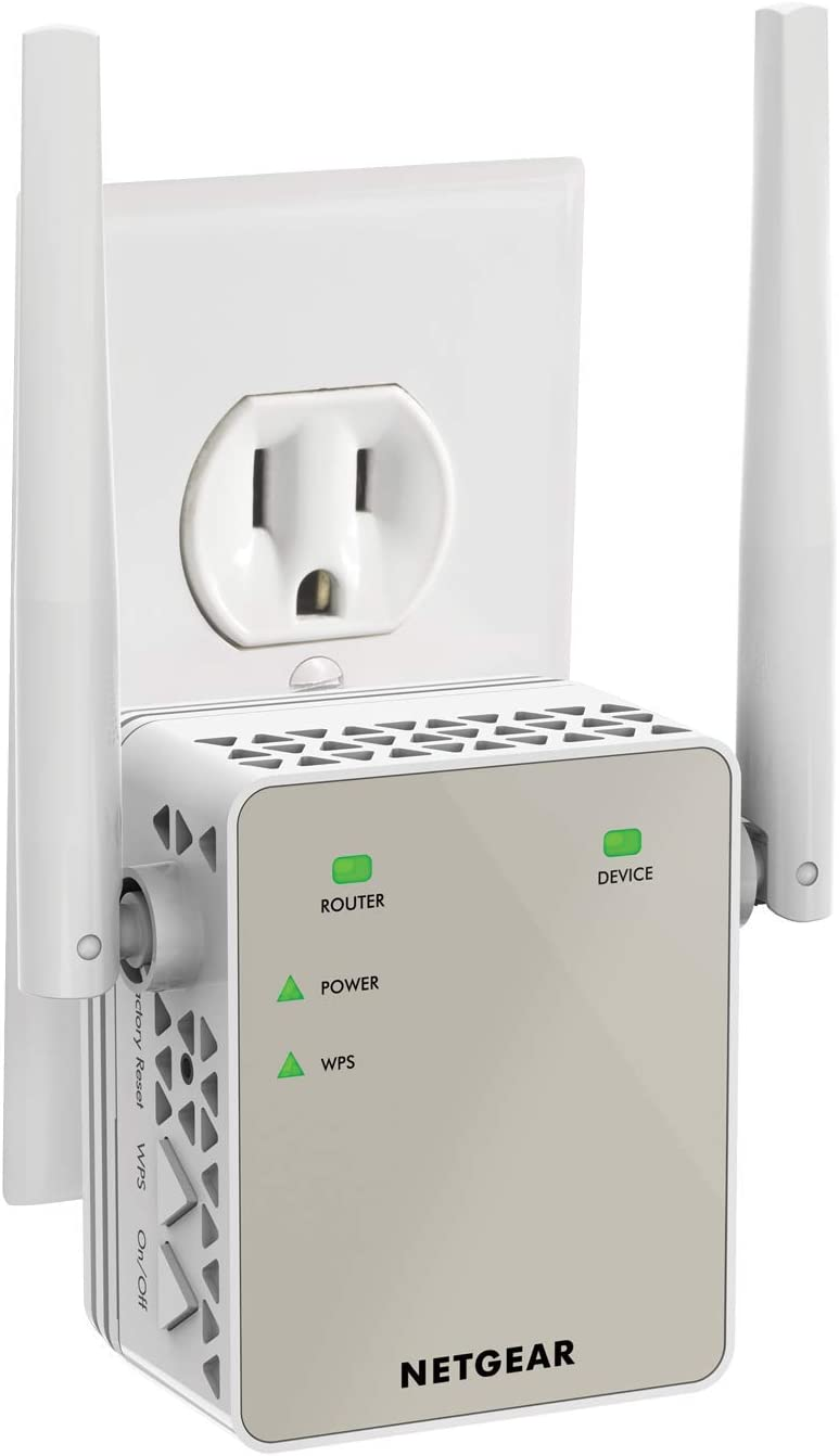 and 20 devices with AC1200 Dual Band Wireless Signal Booster /& Repeater Coverage up to 1200 sq.ft up to 1200Mbps speed and Compact Wall Plug Design NETGEAR WiFi Range Extender EX6120