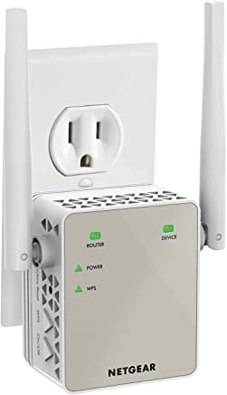 $59 Get NETGEAR Wi-Fi Range Extender EX6120 - Coverage up to 1200 sq.ft. and 20 devices with AC1200 Dual Band Wireless Signal Booster & Repeater (up to 1200Mbps speed), and Compact Wall Plug Design