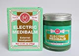 3 Jars - Fei Fah Electric Medibalm External Analgesic 2.45oz (70g) Made in Singapore - Muscular Aches, Stiff Neck, Headaches, Toothaches, Colds, Stuffy Nose 三罐装 惠华万应止痛膏 2.45盎士(70克) 新加坡制造 8887497080706