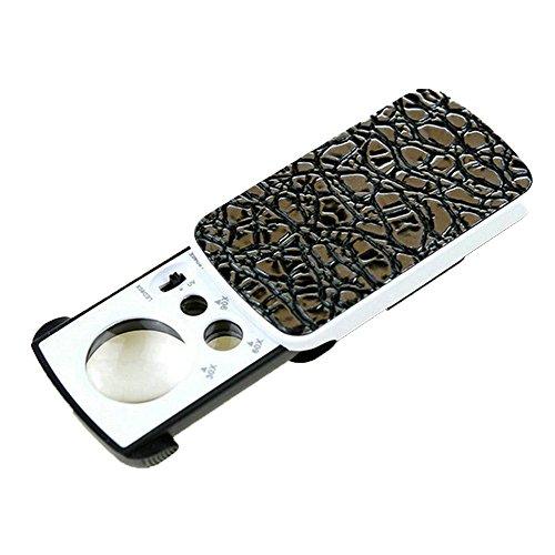 Magnifier-fyxd Fyxd draagbare vergrootglas LED pull vergrotingsspiegel met licht 30/60/90 keer sieraden antieke schatting, geld detector UV-licht Moederdag Vaderdag cadeau