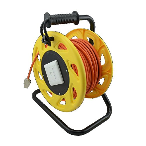 LogiLink CQ3060S Netzwerk Kabeltrommel CAT6A, S/FTP, RJ45 Keystone Buchsen (500 MHz, 60m) orange