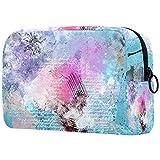 Bolsa de embalaje de viaje pequeña bolsa de maquillaje neceser bolsa de cosméticos impermeable con cremallera bolsa de cosméticos organizador de accesorios para mujeres color de arte (2)