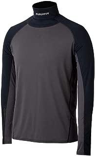 Hockey Neck Protect Long Sleeve Shirt Top, Adult