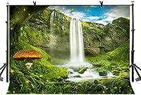 HD滝自然風景の背景写真10x7ftおとぎ話の森の背景子供キッズテーマパーティー写真の小道具LYZY01103