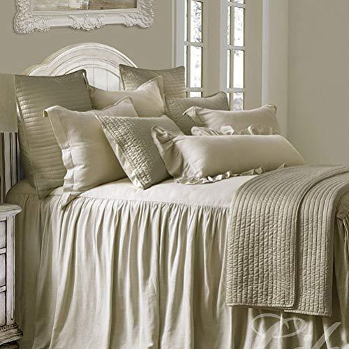 LA-BOOR Bedroom Bedspread Hotel Bed Skirt Bedsheet Bed Skirt Bed Cover Bed Sheet Bedspread Bedding Protector Home Textile,Brown,200x200cm