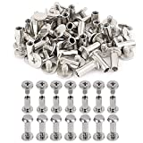 Xinlie 100 PCS Tornillo clavos remaches Clavos Remaches Tornillo Tornillos Niquelados Torn...