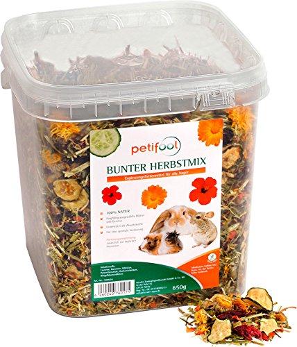 "petifool Nager-Ergänzungsfutter ""Bunter Herbstmix"", natürliches und gesundes Kaninchenfutter, 1er Pack (1 x 650 g)"