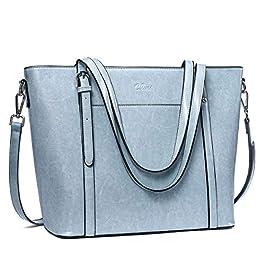 CLUCI Sac à Main Femmes Cuir Grande Capacité Dames Sac à Bandoulière Designer Mode Hobo Vintage Ciré à l'huile Tote Bag
