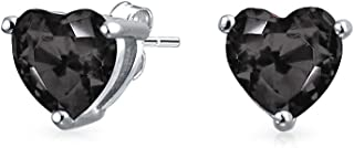 1Ct Cubic Zirconia AAA CZ Solitaire Heart Stud Earrings For Women For Teen 925 Sterling Silver More Colors