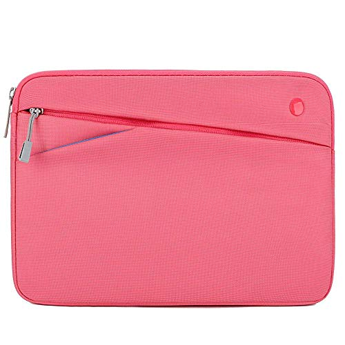 Feacan 11 inch Tablet Sleeve for 11 inch New iPad Pro / 10.2 inch New iPad / 10.9 inch New iPad Air 4 / 10.5 iPad Pro Air / 9.7 iPad / iPad Air 2 Case Bag, fit Apple Pencil Smart Keyboard Cable, Pink