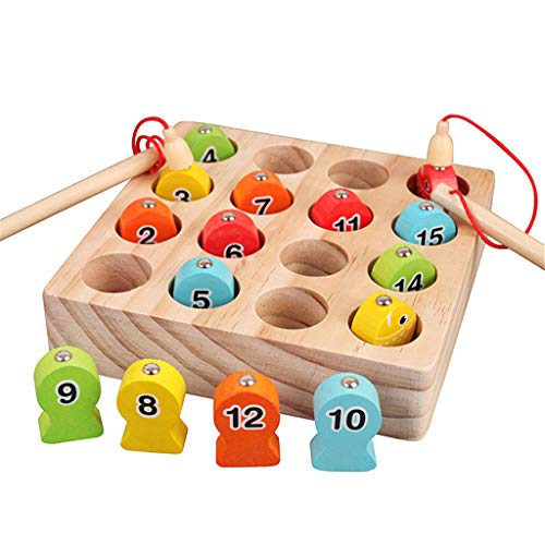 Child Wooden Magnetic Fishing Game Fine Motor Skill Toy Letters Cognition Preschool Toys