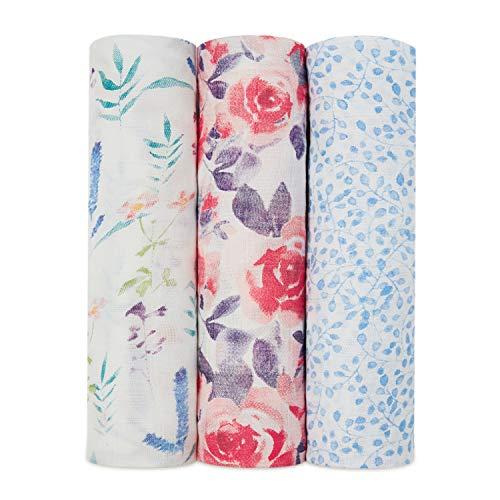 aden + anais 9228G Silky Soft swaddles Watercolour Garden, Mehrfarbig