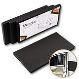 VENDIX Protector de pared de garaje autoadhesivo - GRUESO EXTRA 40 x 20 x 2 cm - Óptima protección de los cantos de la puerta de la cabina montaje rápido y sencillo (Juego de 4)