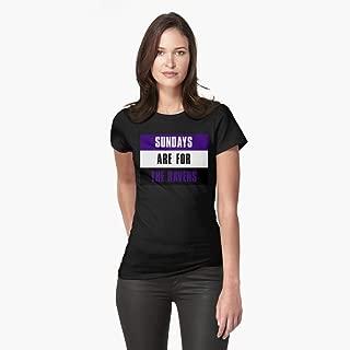 Les dimanches sont pour les Corbeaux Baltimore Raven Tshirt moulant.