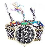 Uhren für Frauen Damenuhren Modemarke Handmade Geflochtenes Seil Damenkleid Quarzuhr Uhr Damenuhr...