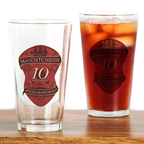 CafePress–maccutcheon 10Jahre Vintage–Pint-Glas, 16oz Trinkglas farblos