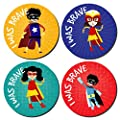 144 I Was Brave Stickers SUPER HERO Bravery Award kids nurses doctors schools by Sticker Time