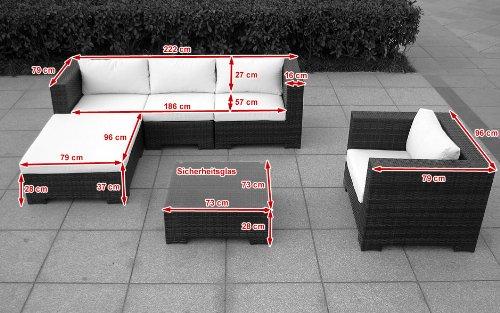 Sitzgruppe Daydreamer Rattan 4-teilig schwarz Bild 2*