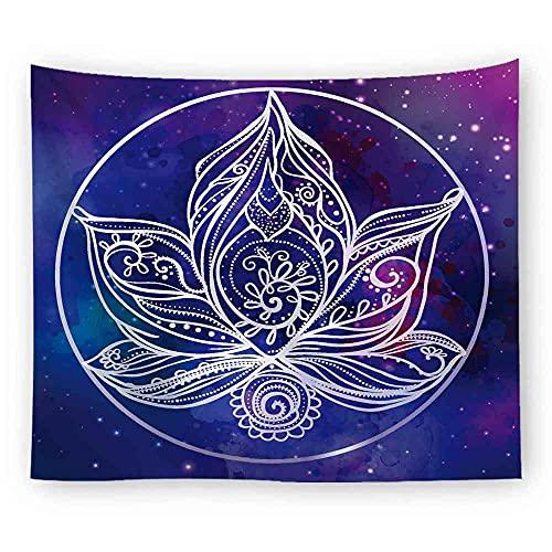 Mandala Yoga Chakra Tapiz Colgante de pared Hippie Tapiz Tela Bohemia Hippie Tapiz Manta psicodélica Tela colgante A4 130x150cm