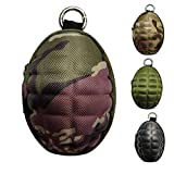 CyberDyer Creative Grenade Pouch Portable Coin Purse Key Cases Bluetooth Earphone Earbuds Zipper Holder (Jungle Camouflage)