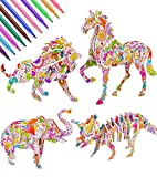 Art Supplies Gift for 4-12 Year Old Kids Girls Boys, 3D Painting Coloring Puzzle Art and Craft Toy