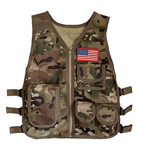 Gskids Tactical Vest Children Adjustable Outdoor Clothing CP Small