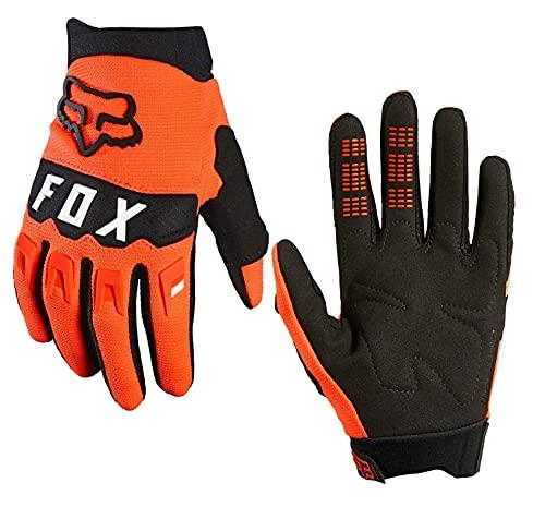 Fox Dirtpaw Glove Fahrrad MTB / MX Cross Langfinger Knöchelschutz Handschuhe (Neon Orange, S = smal)