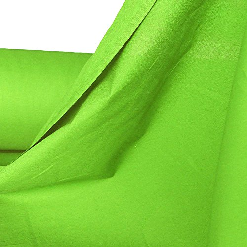 TOLKO Baumwollstoff | 42 kräftige ÖkoTex Farben Baumwoll-Nesselstoff Uni Kleiderstoff Dekostoff | Baumwolle Meterware 150cm breit | Vorhang-Stoff Bezugsstoff Webstoff 50cm (Hell-Grün)