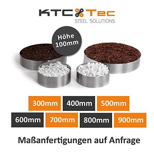 KTC Tec Beetumrandung Pflanzenring Beeteinfassung Edelstahl V2A schraubbar Durchmesser 700mm