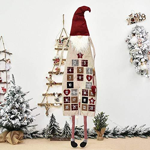 josietomy Christmas Advent Calendar, Wall Hanging Exquisite Santa Felt Calendar, Countdown Calendar Decoration for Home Office Door Decor - Countdown to Christmas