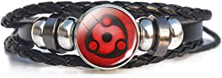 Coz' Place Anime Naruto Sasuke Itachi Kakashi Cosplay Braided Leather Bracelet Sharingan Eye Bracelet (Eternal Madara's Mangekyou Sharingan)