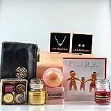 Cestas de regalo para hija especial en Navidad/Navidad, velas aromáticas, bombas de baño, jabón de rosa, pendientes de oro rosa y colgante de corazón, hecho a mano con chocolates